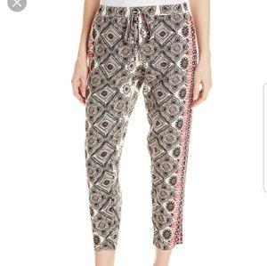NWT! Michael Stars Border Print Tapered Pants